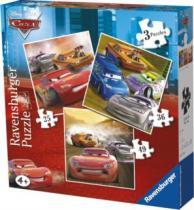 RAVENSBURGER 3v1 - Auta (25,36,49 dílků)