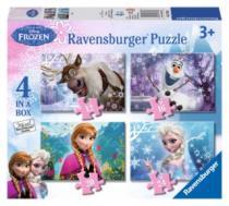 RAVENSBURGER 4v1 - Ledové království 12,16,20,24 dílků