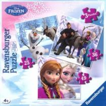 RAVENSBURGER 3v1 - Ledové království: Anna, Elsa a přátelé (25,36,49 dílků)