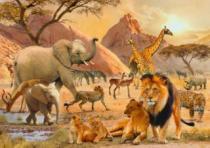 RAVENSBURGER 1000 dílků - Africká divočina