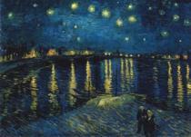 RAVENSBURGER 1000 dílků - Hvězdná noc nad Rhônou