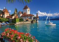 RAVENSBURGER 1000 dílků - Jezero Thun, Bern