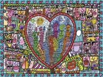 RAVENSBURGER 1500 dílků - Láska uprostřed města