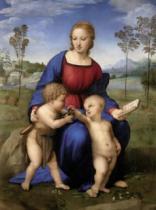 RAVENSBURGER 1500 dílků - Madonna del Cardellino