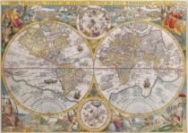 RAVENSBURGER 1500 dílků - Mapa světa r.1594