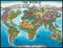 RAVENSBURGER 2000 dílků - Mapa světa