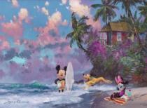 RAVENSBURGER 500 dílků - J. Coleman: Na pláži