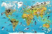 RAVENSBURGER 5000 dílků - Fascinující mapa světa
