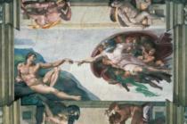 RAVENSBURGER 5000 dílků - Michelangelo: Stvoření Adama