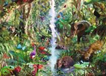 RAVENSBURGER 9000 dílků - D.Penfound, Zvířata v džungli