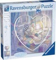 RAVENSBURGER srdce - čtverec 500 dílků - Me to You: Dobrou noc