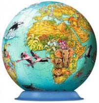 RAVENSBURGER Puzzleball 108 dílků - Dětská mapa světa