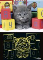 RAVENSBURGER 200 dílků - Šedé kotě