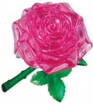 HCM KINZEL 3D Crystal - Růžová růže 44 dílků
