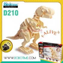 ROBOTIME 3D dřevěné robotické T-Rex chodící D210