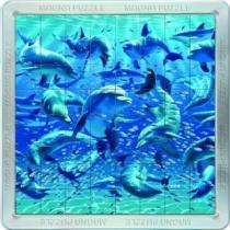 PIATNIK 3D magnetické 64 dílků - Delfíni