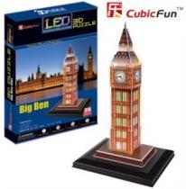 CUBICFUN 3D - Big Ben - svítící LED 3D