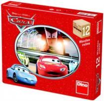 DINO dřevěné kostky - Auta (Cars) 12 kostek