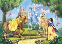 CLEMENTONI - Princezny na koních 24 dílků