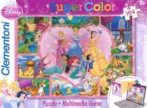 CLEMENTONI 104 dílků - Disney princezny