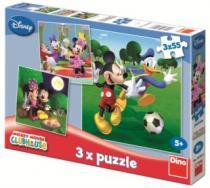 DINO 3v1 - Mickeyho klubík 3v1 (3x55 dílků)