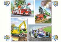 CASTORLAND 4v1 - Dopravní prostředky (8-20 dílků)