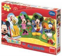 DINO 4v1 - Mickeyho klubík 4x54 dílků