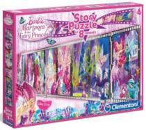 CLEMENTONI 8 x 25 dílků - příběh: Barbie Mariposa