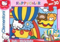 CLEMENTONI 30 dílků - Hello Kitty v balónu