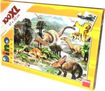 DINO 100 dílků - Dinosauři XL