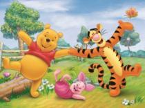 DINO 24 dílků - Zábava s Medvídkem Pú
