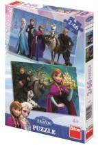 DINO 2x 66 dílků - Ledové království 2v1