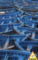 PIATNIK 1000 dílků - Modré loďky