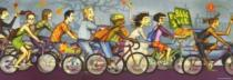 HEYE 1000 dílků - Bike Art: Cyklotlačenice