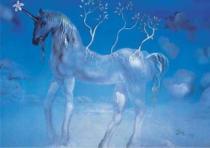EDITIONS RICORDI 1500 dílků - Dalí, Modrý jednorožec