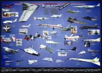 EUROGRAPHICS 1000 dílků - Americká letadla série X