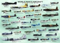 EUROGRAPHICS 1000 dílků - Letadla 2.světové války