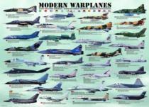 EUROGRAPHICS 1000 dílků - Moderní bojová letadla