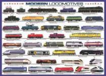 EUROGRAPHICS 1000 dílků - Moderní lokomotivy