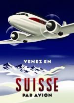 EUROGRAPHICS 1000 dílků - Plakát: Letadlem do Švýcarska