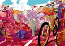 HEYE 1000 dílků - Bike Art: Vyjížďka v růžovém
