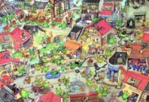 HEYE 1000 dílků - Degano, Dračí město (Dragontown)