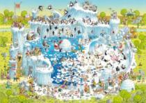 HEYE 1000 dílků - Degano, Šílená ZOO: Polární expozice