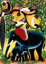 HEYE 1000 dílků - Tinga Tinga: Sloní rodina
