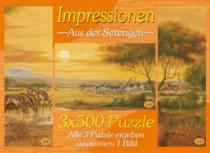 M.I.C. 3 x 500 dílků - Dojmy ze Serengeti, triptych