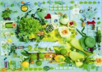 SCHMIDT 1000 dílků - Ulrike Schneiders, Zelená kompozice