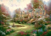 SCHMIDT 2000 dílků - Thomas Kinkade, Zahrady ve Spring Gate