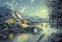 SCHMIDT 500 dílků - T. Kinkade, Vánoční svit měsíce
