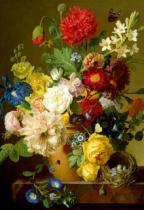 TREFL 1500 dílků - Květiny na mramorové římse