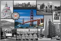 TREFL 1500 dílků - San Francisco- koláž